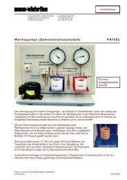 Wärmepumpe (Demonstrationsmodell) PA1502