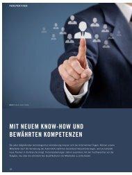 mit neuem know-how und bewährten kompetenzen - Automotive