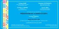 présentation de la saison 2013/2014 - Le Théâtre Armande Béjart