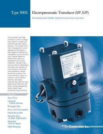 Type 500X Electropneumatic Transducer (I/P, E/P) - Dwn.ie