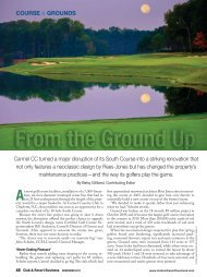 to open the November 2011 Club - Carmel Country Club