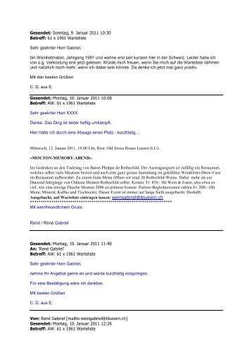 Gesendet: Sonntag, 9. Januar 2011 10:30 Betreff: 61 x 1961 ...
