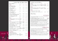 St Giles' Wine List Winter 2012 House Wines White Rosé Red ...
