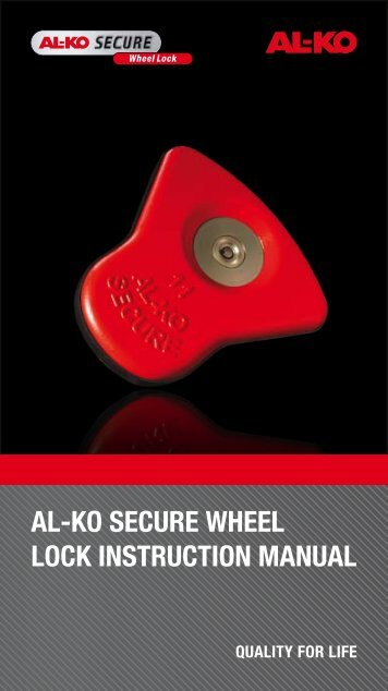 al-ko secure wheel lock instruction manual - Swift Owners Club