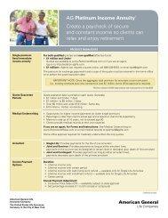 AG Platinum Income Annuity Spec Sheet - A Plus Marketing