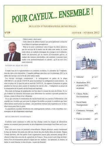 N°19 : Janvier - Février 2012 - Cayeux