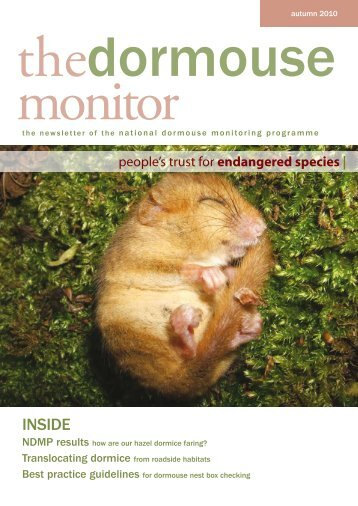 The Dormouse Monitor Autumn 2010 - People's Trust for ...