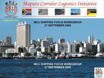 MCLI SHIPPING FOCUS WORKGROUP 27 SEPTEMBER 2005 ...