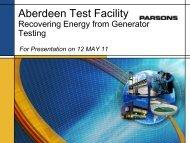 Aberdeen Test Facility - E2S2
