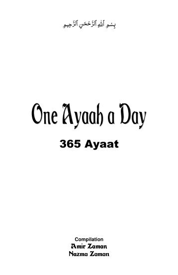 3) Selected 365 Ayat for Youth - The Message