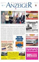 Wochenend Anzeiger - Gelbesblatt Online