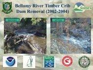 Bellamy River Timber Crib Dam Removal (2002-2004) - VHB.com