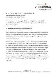 AD – HOC – MELDUNG nach § 15 WpHG - Schaltbau Holding AG