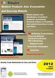 Medical Products Asia E-newsletter and Sourcing Website