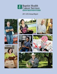 Cancer Services Annual Report - Baptist Health South Florida