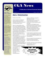 CGA News - Colorado Greyhound Adoption