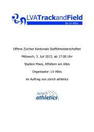 Ausschreibung - zürich-athletics