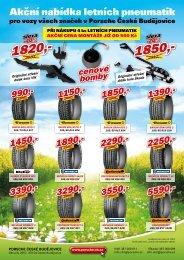 Akční nabídka letních pneumatik - Porsche