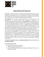 Weitere Infos gibt es hier im pdf. - ASA-Programm