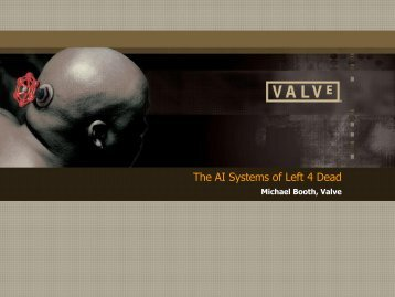 The AI Systems of Left 4 Dead - Valve