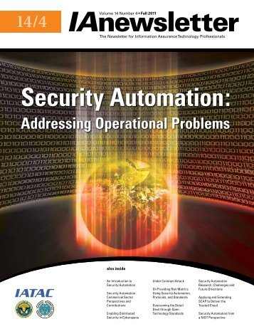 Security Automation: - IAC - Defense Technical Information Center