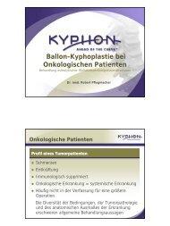 Ballon-Kyphoplastie bei Onkologischen Patienten