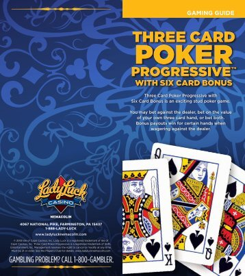 Three Card Poker Gaming Guide - Lady Luck Casino Nemacolin