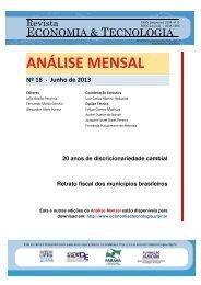 Junho de 2013 - Revista Economia & Tecnologia - Universidade ...