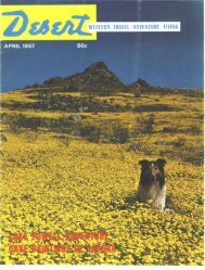 western travel/adventure/living - Desert Magazine of the Southwest