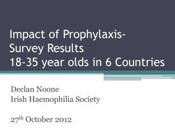 Impact of Prophylaxis- Survey Results 18-35 year olds in 6 ... - EHC
