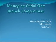 Managing Ostial Side Branch Compromise