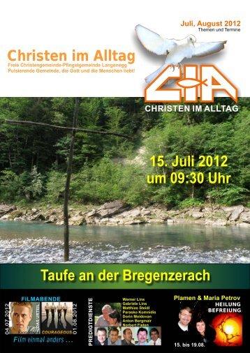 Gemeindebrief 2012-07 08 - Christen im Alltag