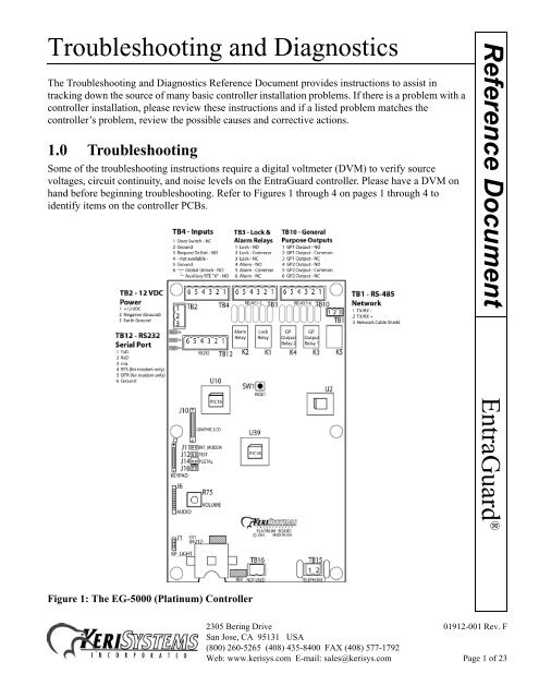 [SCHEMATICS_48IU]  Troubleshooting and Diagnostics EntraGuard ... - Keri Systems | Keri Access Wiring Diagram |  | Yumpu