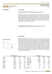 05 SEP 2012 MALAYSIA EQUITY Investment Research Daily - Osk188