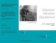 Volunteer Services Department - St. Joseph's Health Centre Toronto