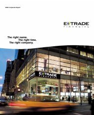 The right name. The right time. The right company. - E*Trade