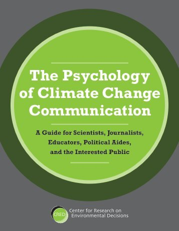 CRED Guide PDF - The Psychology of Climate Change ...