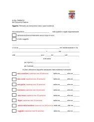 Modello richiesta di concessione (allegato A1) - Comune di Faenza