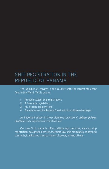 Republic of Panama Vessel Registry - Infante & Pérez Almillano