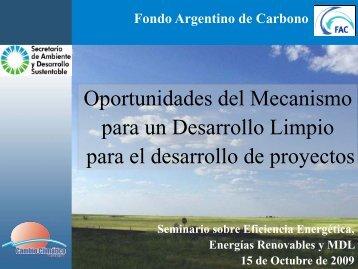 Oportunidades del Mecanismo para un Desarrollo ... - Tech4CDM