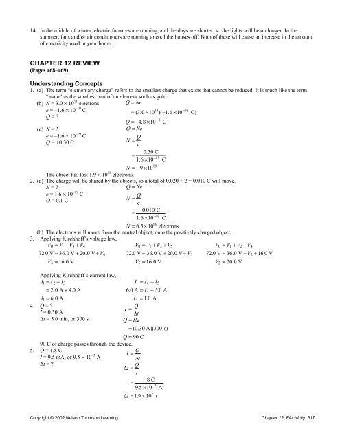 Ch 12 Review Solutions SPH3U ClassNet