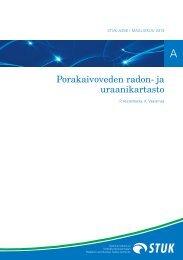 Porakaivoveden radon- ja uraanikartasto - STUK