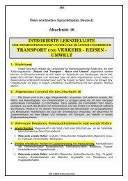 TRANSPORT VERKEHR - REISEN - UMWELT