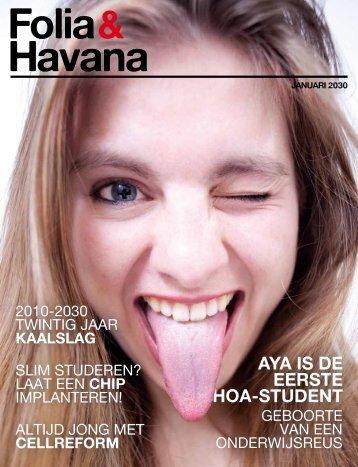 aya is de eerste HOa-student - Folia Web