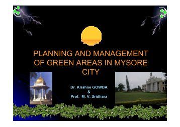 planning and management of green areas in mysore city