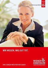 Folder zur Gesundheitsvorsorge im Betrieb - Wiener Städtische