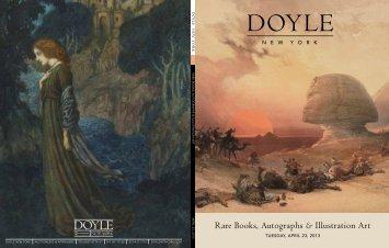 Rare Books, Autographs & Illustration Art - Doyle New York