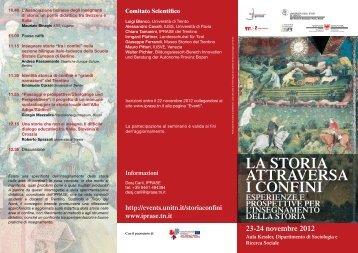 la storia attravErsa i confini - Fondazione Museo Storico del Trentino