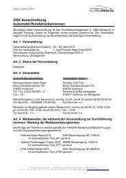 OSK Ausschreibung Automobil-Rundstreckenrennen