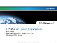 FPGAs for Space Applications - ESA